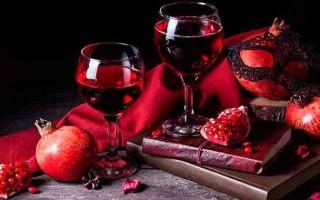Рецепт приготовления вина из граната в домашних условиях