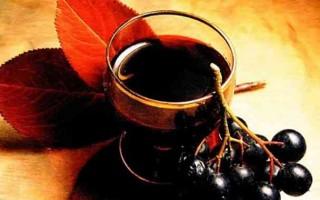 Рецепт приготовления ликера из черноплодной рябины в домашних условиях