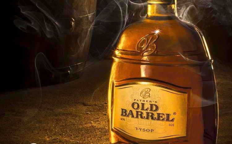 коньяк old barrel 5 vsop