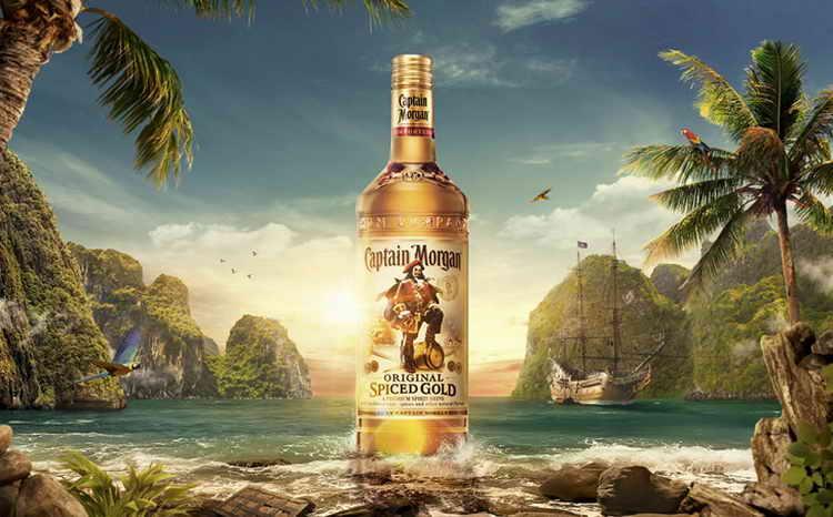 Ром капитан морган пряный золотой