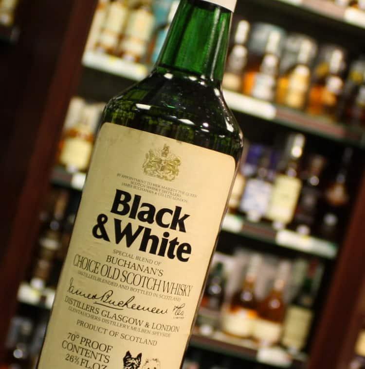 Описание black and white виски