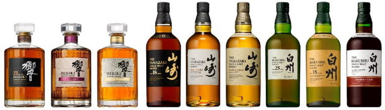 виды виски suntory япония