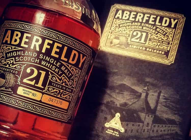Виски aberfeldy 21 очень популярен.
