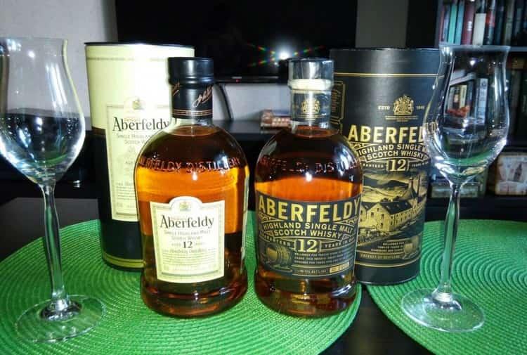 Очень популярным является виски Аберфелди 12 лет в тубе.