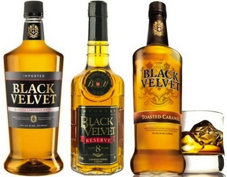 Одна из популярных марок канадского виски это Black Velvet.