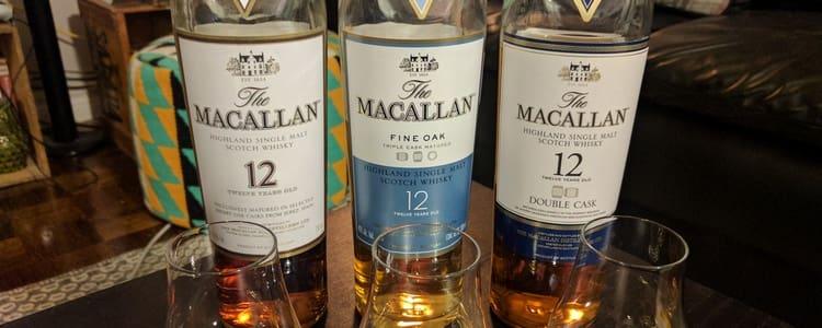Очень популярен виски Макаллан 2 лет выдержки.