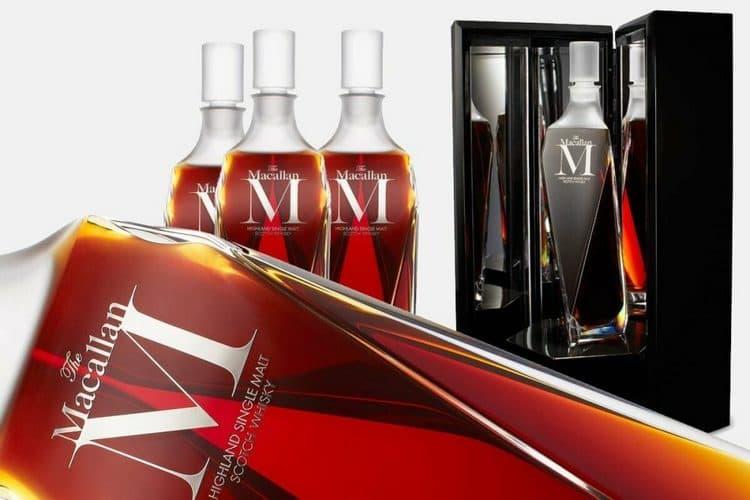 Макаллан М это самый дорогой напиток бренда, поставляющийся исключительно в специальных хрустальных бутылках.