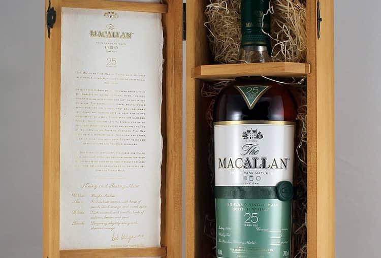 Макаллан 25 лет выдержки признан лучшим солодовым виски 2017 года.