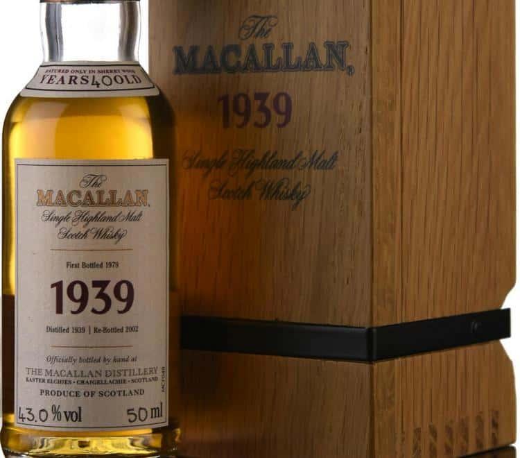 В списке самого дорогого виски в мире марка Макаллан встречается несколько раз.