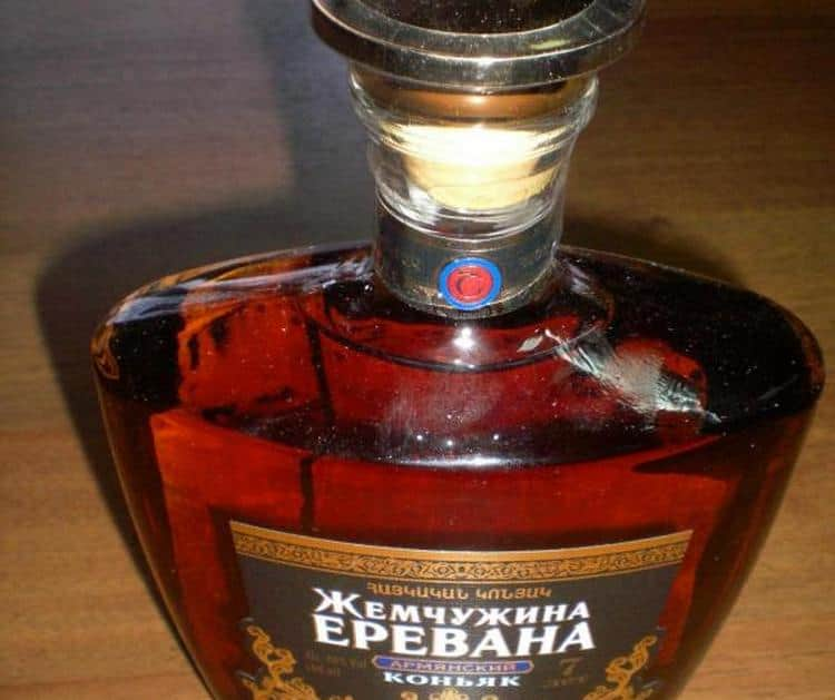 Коньяк Жемчужина Еревана 7 лет выдержки это самый дорогой из блендов компании.