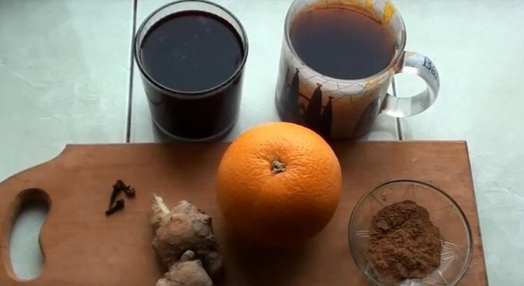 в чашке завариваем крепкий чай