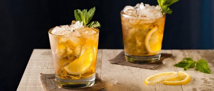 Как приготовить коктейли из виски с лимоном