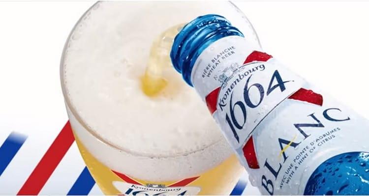 Пиво 1664 в синей бутылке обязательно надо охладить перед употреблением.