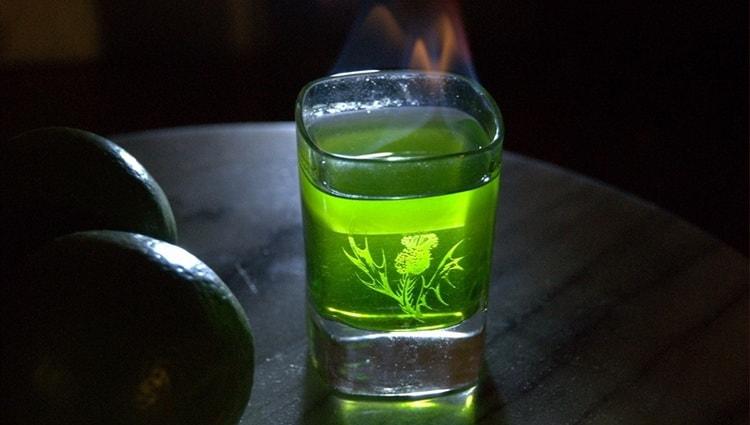 абсент с огнем 70 градусов как пить