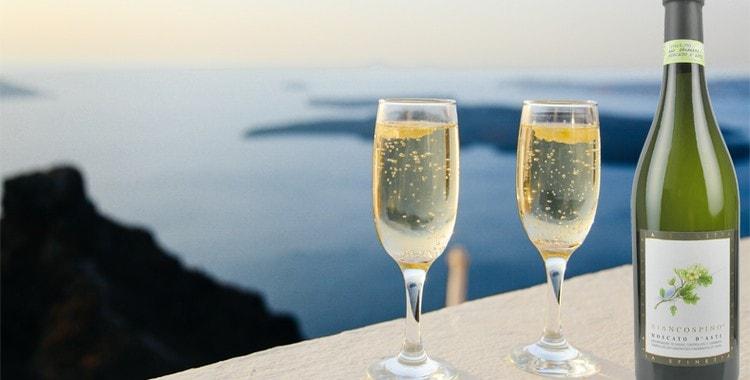 Шампанское moscato производится из особого винограда сорта мускат.