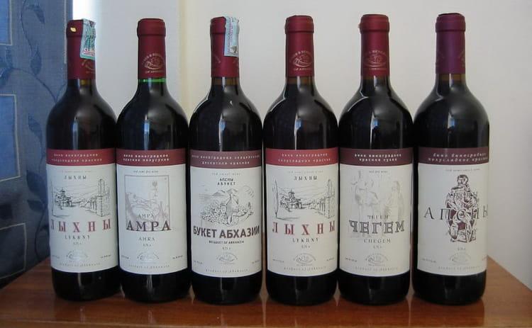 Виды вин абхазии