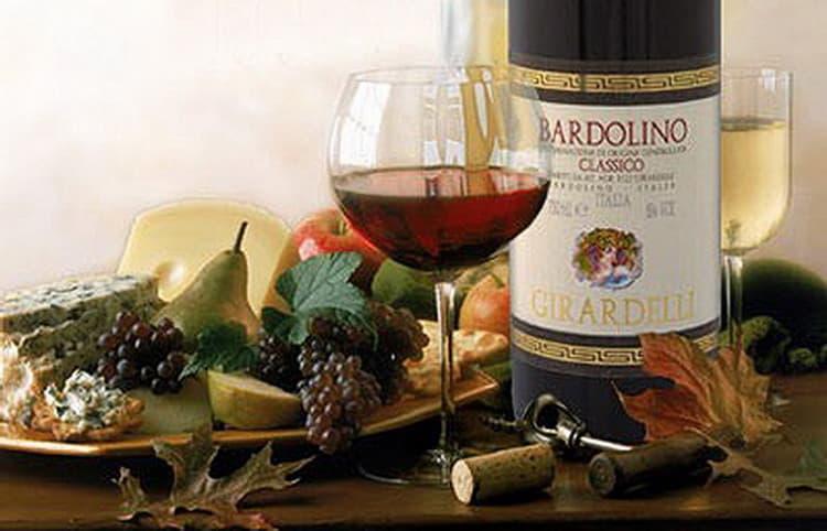 Как и счем подавать красное вино италии бардолино