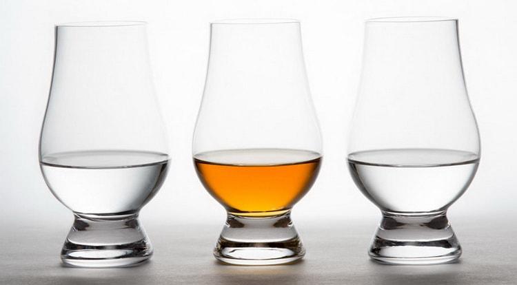 Цвет водки и виски