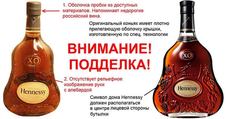 как отличить настоящий коньяк хеннесси от подделки