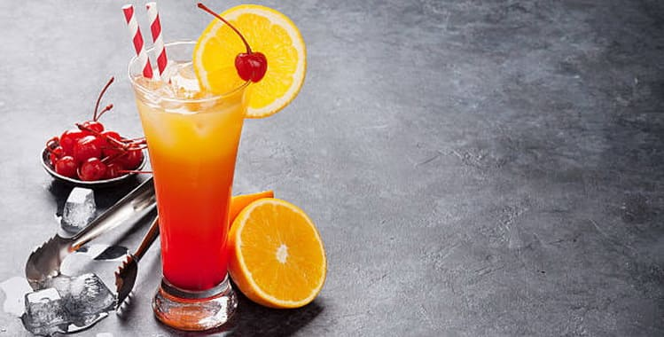 Рецепт коктейля Текила-санрайз