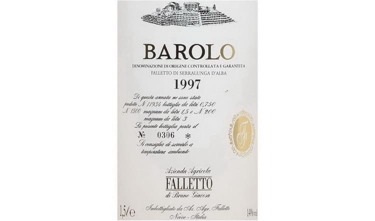 Bruno Giacosa Barolo Falletto