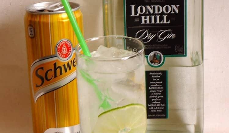 Джин London dry gin прекрасно подходит для приготовления коктейлей.