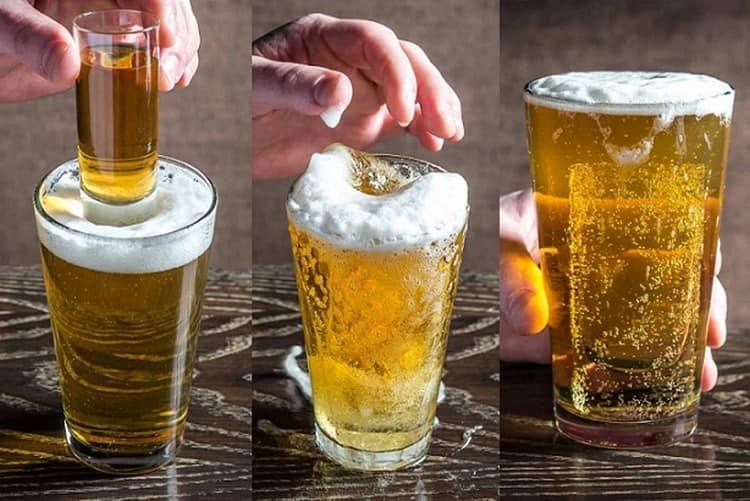 Коктейль Глубоководная бомба можно сделать на основе текилы и пива.