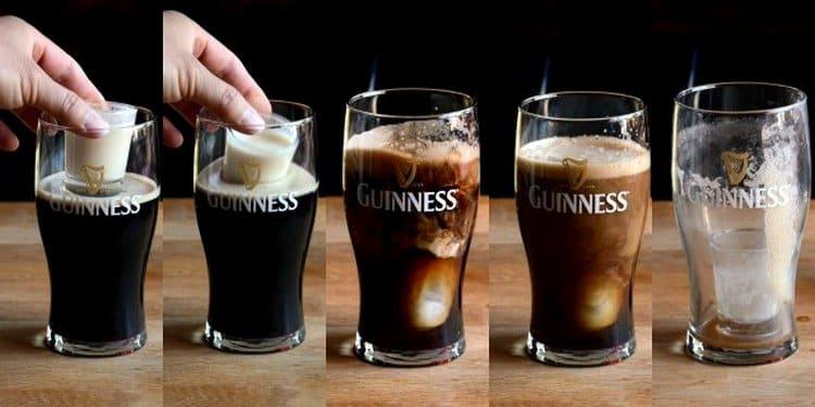 Посмотрите, как приготовить коктейль Ирландская автомобильная бомба.