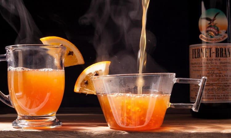 рецепт горячего безалкогольного коктейля Марокканский мандарин