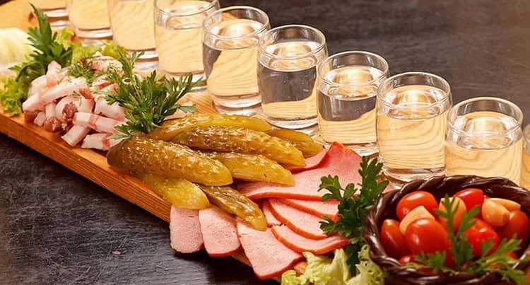 Чем закусывать водку Дрова