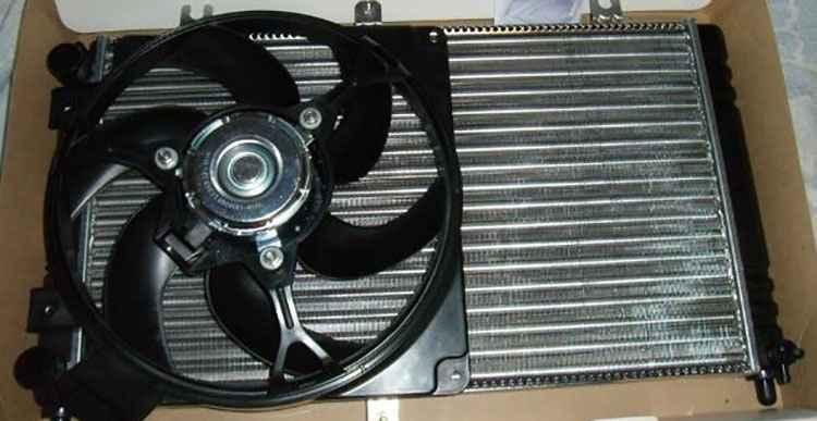 Коплектующие радиатор и вентилятор