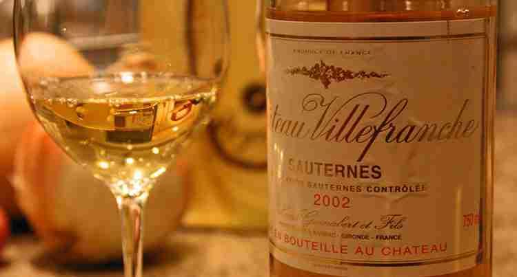 Вино Сотерн вкус и особенность