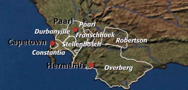 Винодельческие регионы ЮАР