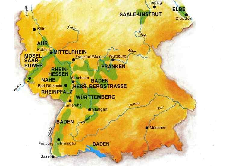 Винодельные регионы германии