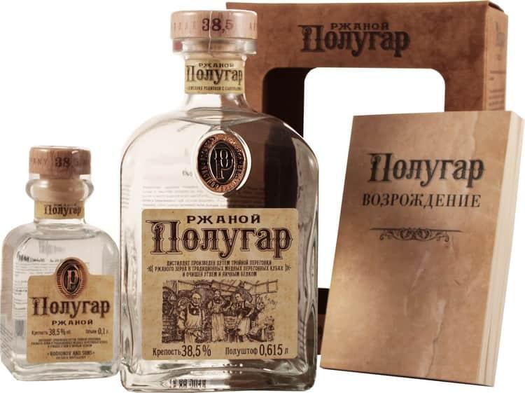 """Популярными марками напитка являются водка """"Славянская"""" ржаная, а также """"Полугар""""."""
