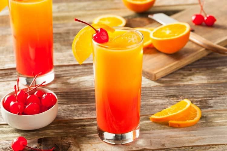 Как готовить коктейль солнце