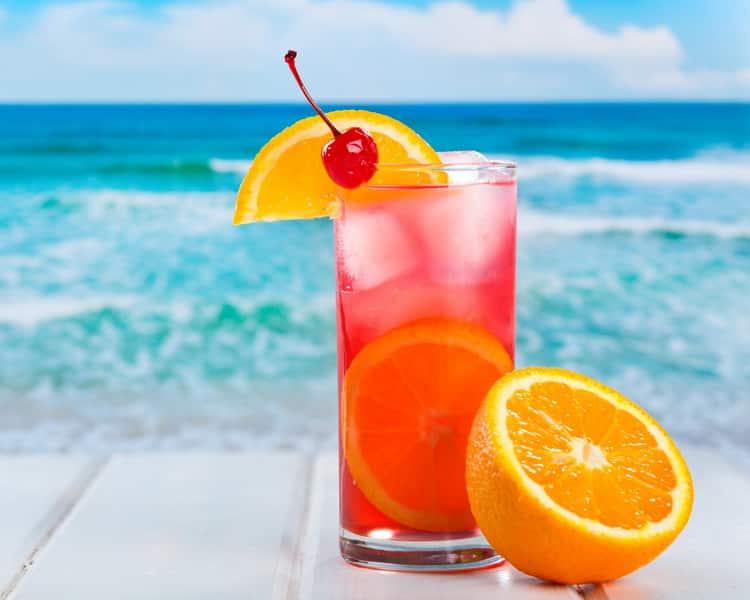 Как готовить коктейль восходящее солнце