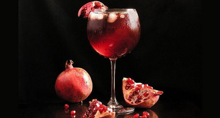 коктейли из гранатового полусладкого вина