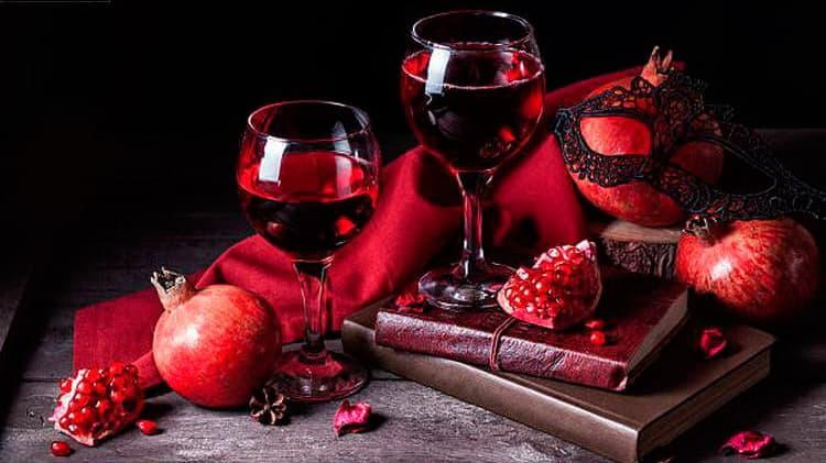 Дегустационные характеристики гранатового вина
