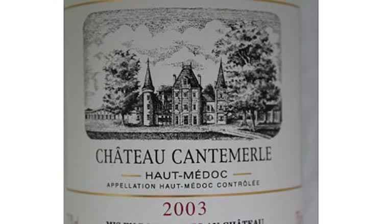 Вид вина Chateau Cantemerle Haut-Medoc AOC 5-me Grand Cru