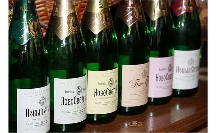 виды шампанского новый свет