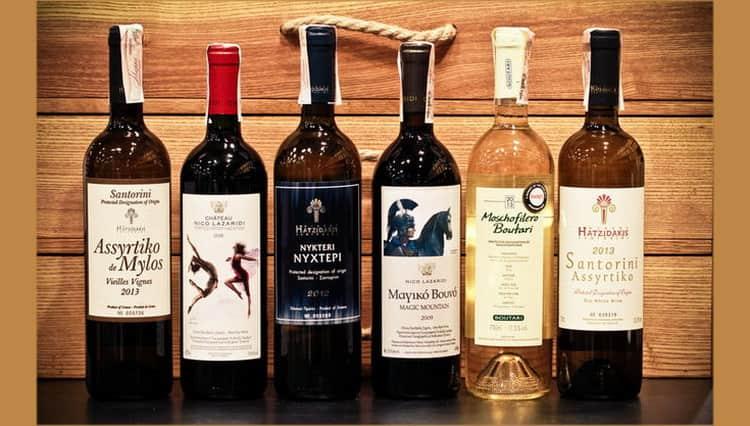 Виды греческих вин