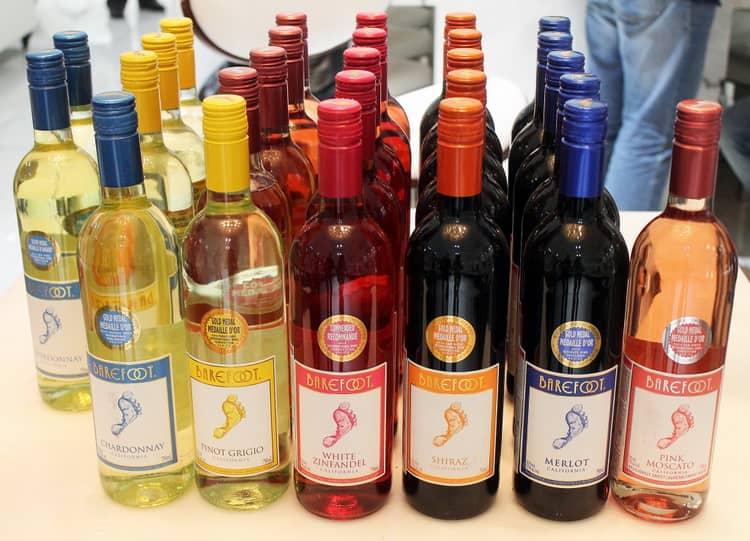 Разновидности вина калифорнии