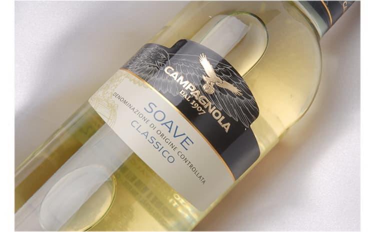 бутылка вина soave