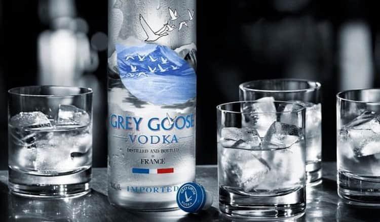 Как подавать grey goose vodka,