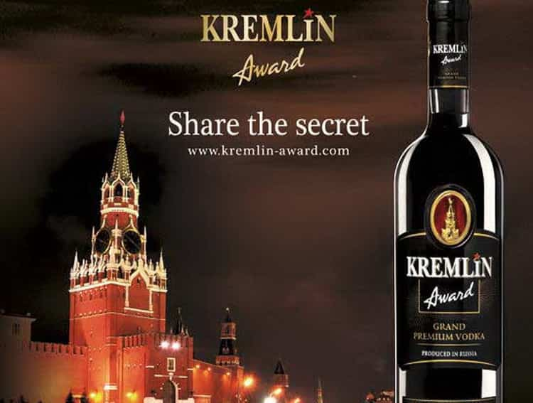 Как подается водка Кремлин