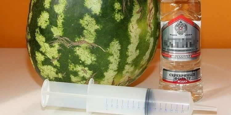 Что нужно, чтобы приготовить арбуз с водкой