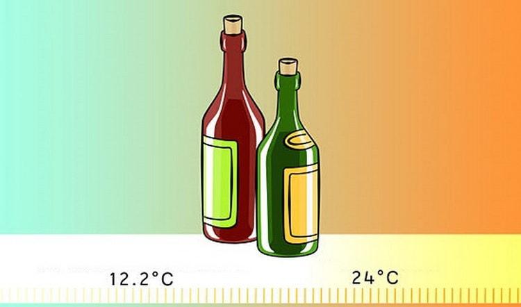 при какой температуре хранить вино