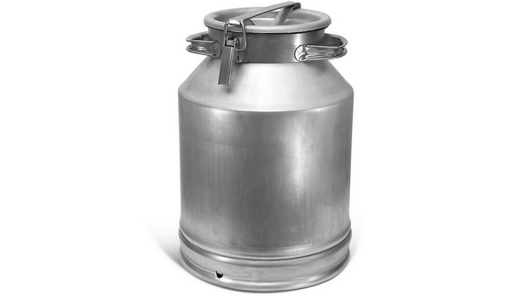 Молочный бидон из алюминия