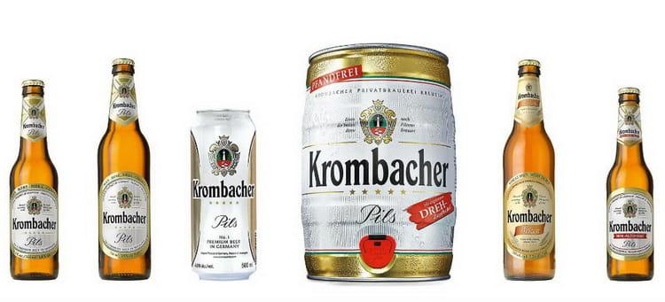 Какие есть виды пива Krombacher